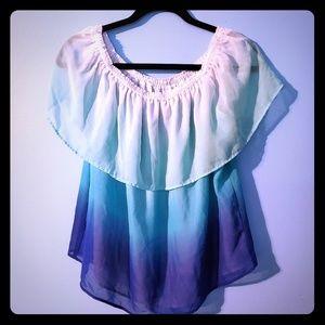 Stylus ombré layered blouse